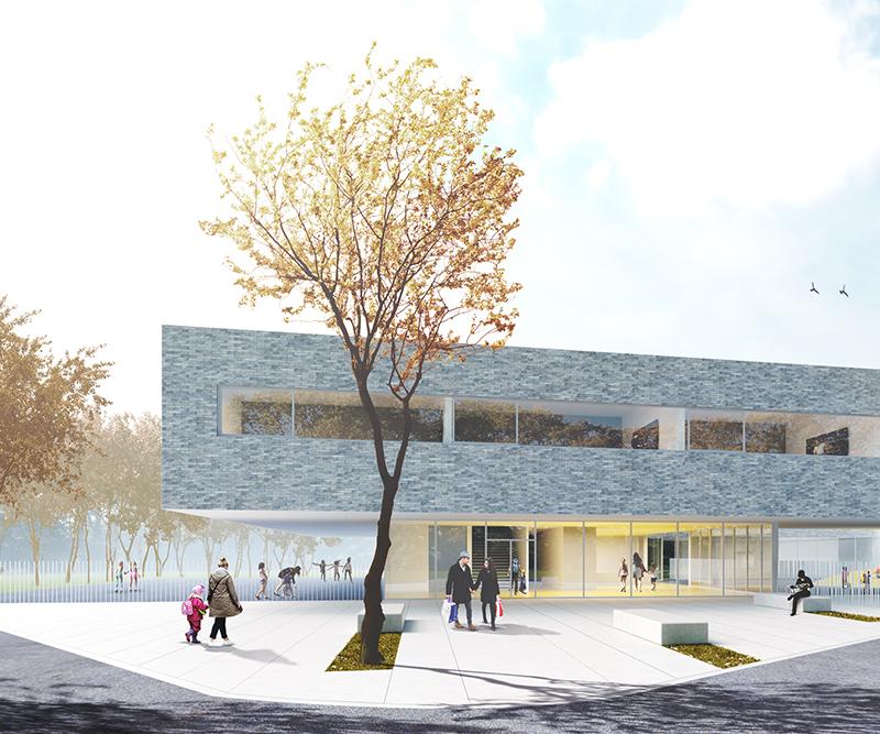 Ecole fondamentale et salles de sport – Athénée Jourdan à Fleurus